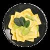 Фото к позиции меню Равиоли со шпинатом и рикоттой