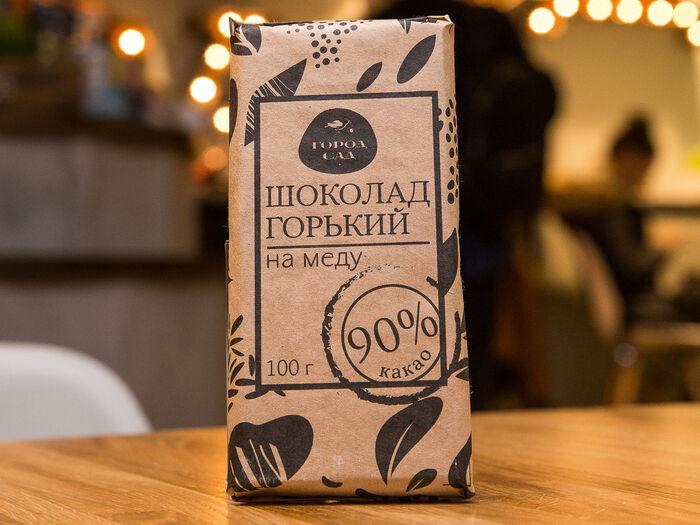Шоколад Город-Сад горький на меду