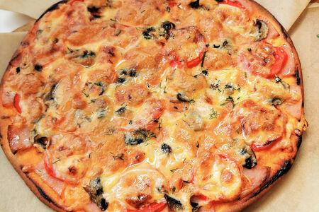 Пицца Домашняя с ветчиной и грибами