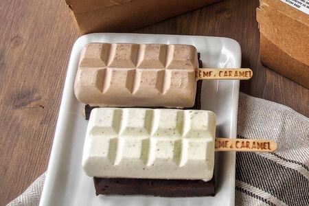 Набор брауни с мороженым джандуйя и крем-брюле на 2 порции