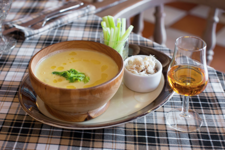 Суп с копченой рыбой
