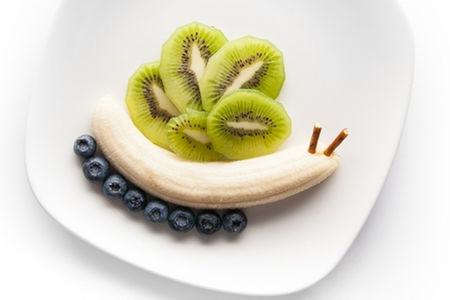Фруктовая Улитка из киви и банана