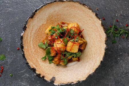 Хрустящие баклажаны с сыром сулугуни