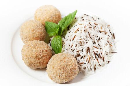 Куриные шарики с рисом
