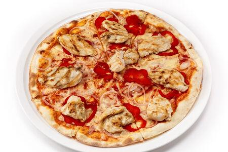 Пицца с куриной грудкой гриль