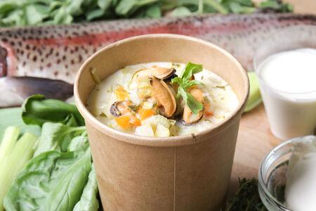 Суп Сливочный чаудер с мидиями