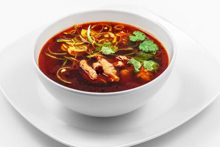 Суп острый со свининой