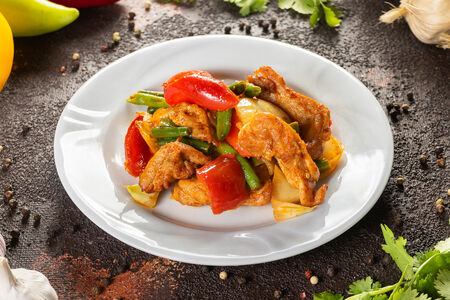 Таджин с курицей и овощами