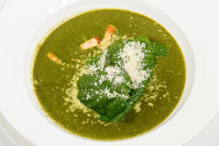 Суп из шпината с куриной грудкой