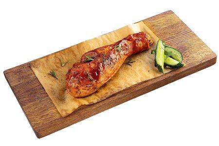 Голень индейки с соусом BBQ