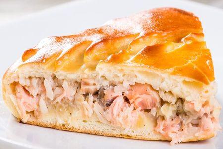 Пирог с сёмгой