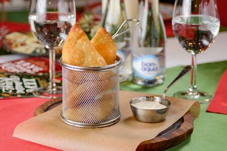 Чебуреки Мини с сыром и кинзой