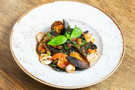 Паста Спагетти с морепродуктами