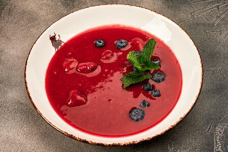 Малиновый суп с ягодами