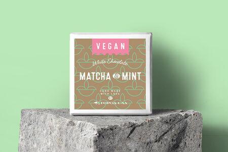 Шоколад Vegan белый с чаем матча и мятой Город-Сад