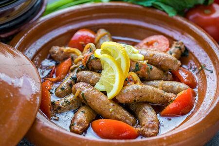 Колбаски Мергез из говядины с бараниной