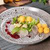 Фото к позиции меню Запеченные овощи с соусом из свеклы
