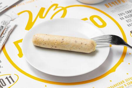 Сосиска куриная с сыром отварная