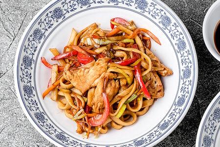 Вок Лапша с мясом на выбор или морепродуктами