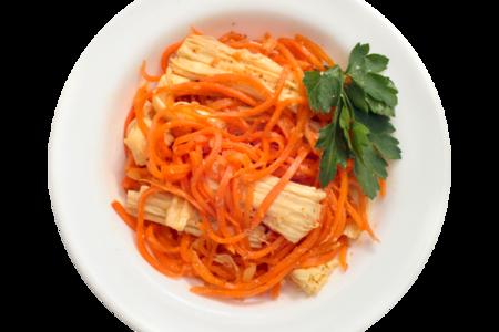 Морковь со спаржей по-корейски