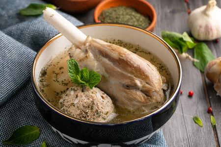 Суп из баранины с кюфтой