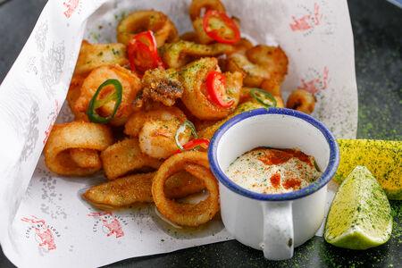 Стрипсы из морепродуктов