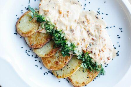 Куриное филе с запечённым картофелем