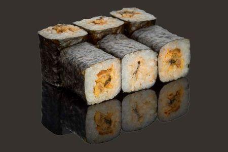 Мини ролл с мидиями и нежным сыром