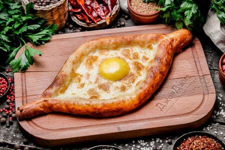 Аджарули с яйцом и сыром