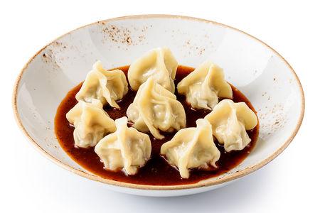 Вонтоны со свининой в китайском соусе