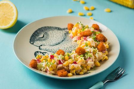 Салат Кукурузный с хрустящей рыбкой