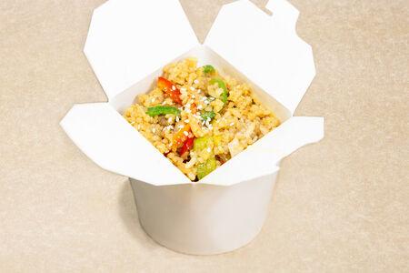 Каннам-вок с рисом