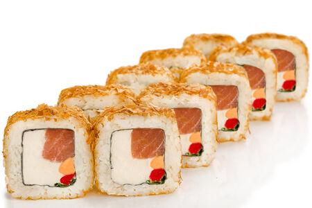 Ролл Бонито с копчёным лососем гранд