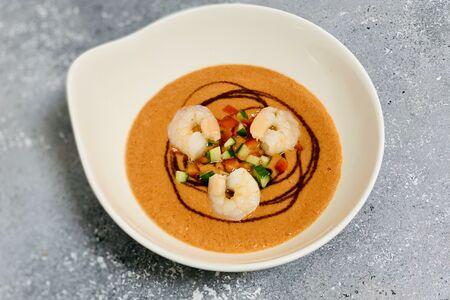 Суп гаспачо с креветками