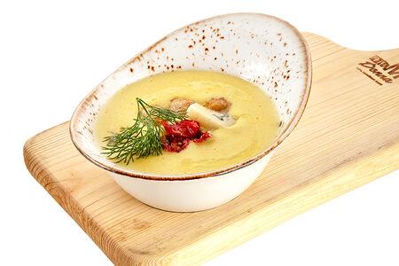 Крем суп из кукурузы с фрикадельками из индейки