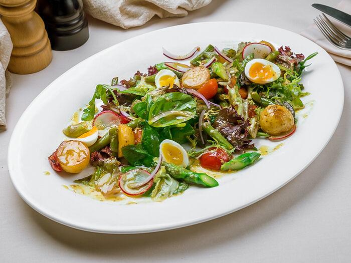 Апулийский салат с тунцом и анчоусами