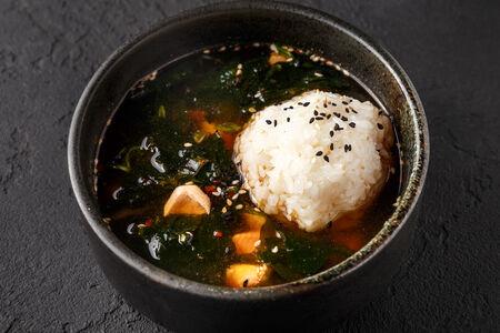 Суп Клеро с лососем, креветками и рисом