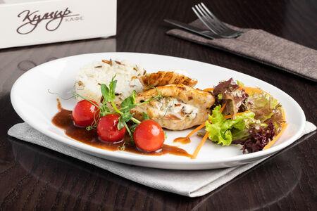 Куриное филе с овощами и рисом