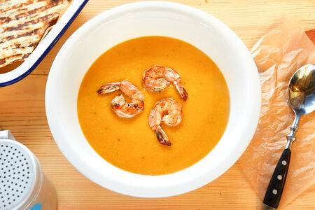 Крем-суп Тыквенный с креветкой