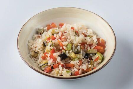 Рис с обжаренными овощами гриль
