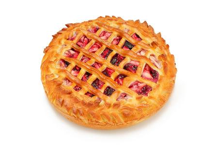 Пирог с яблоком и вишней