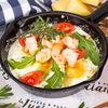 Фото к позиции меню Сковородка с креветками и картофелем