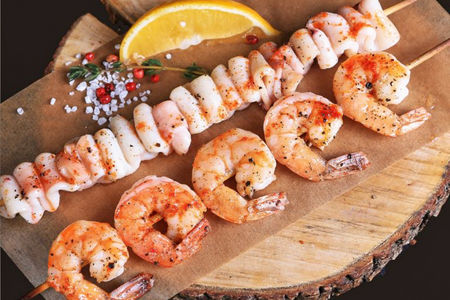 Шышлычки из морепродуктов
