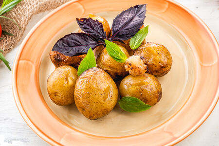 Картофель на углях