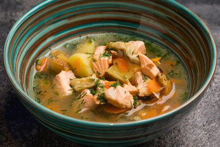 Суп Уха копченая с двумя видами рыбы