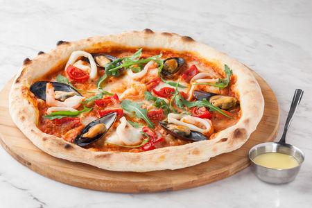 Пицца Мидии и креветки