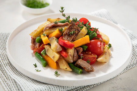 Индейка с овощами по-паназиатски
