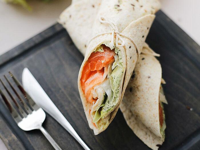 Сэндвич-ролл с лососем