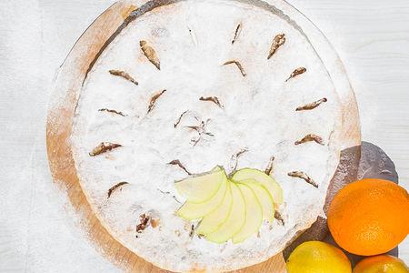 Осетинский пирог с яблоками и апельсинами