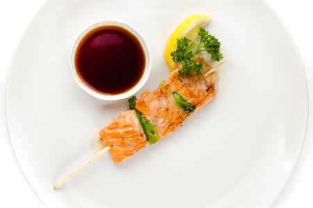 Шашлык из брюшка лосося